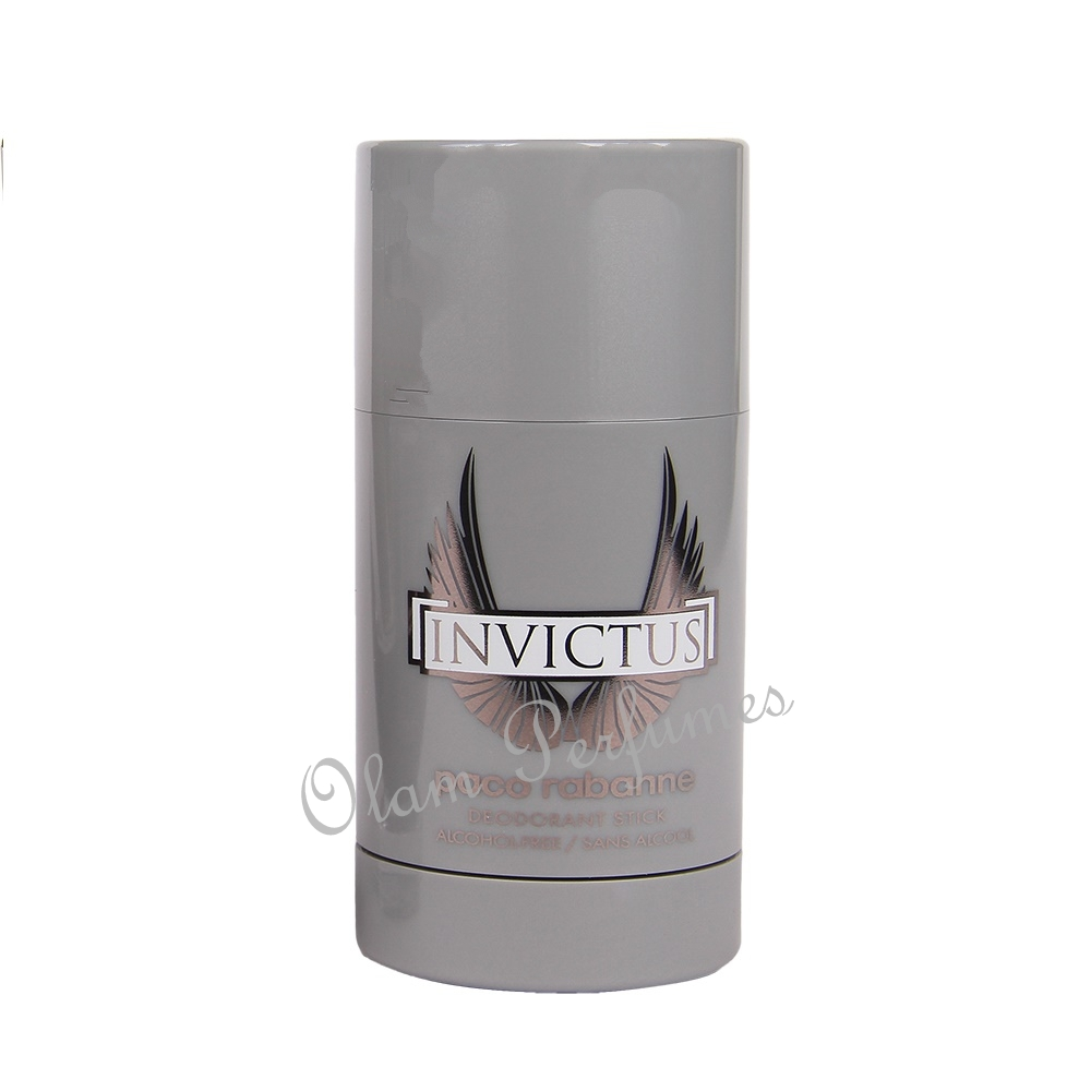 Paco Rabanne Invictus Alcohol Free Deodorant Stick For Men 2.5oz